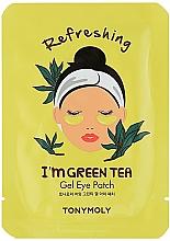 Düfte, Parfümerie und Kosmetik Erfrischende Gel-Patches für die Augenpartie mit grünem Tee - Tony Moly Refreshing Im Green Tea Eye Mask
