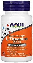 Düfte, Parfümerie und Kosmetik Nahrungsergänzungsmittel L-Theanin 200 mg - Now Foods L-Theanine Double Strength Veg Capsules