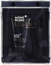 Düfte, Parfümerie und Kosmetik Montblanc Legend Night - Duftset (Eau de Parfum 7.5ml + After Shave Balsam 50ml)