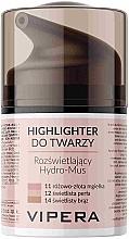 Düfte, Parfümerie und Kosmetik Feuchtigkeitsspendende Highlighter-Mousse für das Gesicht - Vipera Illuminating Hydro-Mousse Highlighter