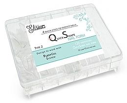Düfte, Parfümerie und Kosmetik Schablonen zur Nagelverlängerung - Elisium Quick Shape Nail Form Typ 2