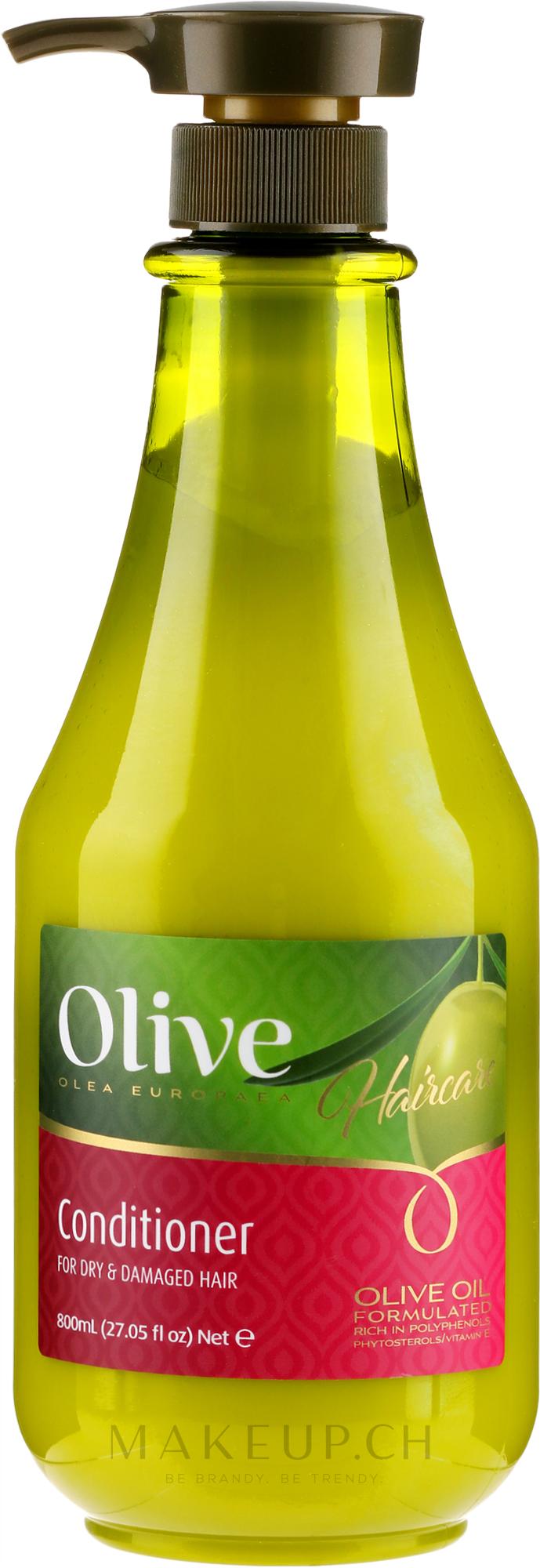 Conditioner mit Olivenöl für trockenes und geschädigtes Haar - Frulatte Olive Conditioner Dry & Damaged — Bild 800 ml