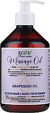 Düfte, Parfümerie und Kosmetik Regenerierendes Massageöl mit Traubenkernöl - Eco U Grapeseed Massage Oil