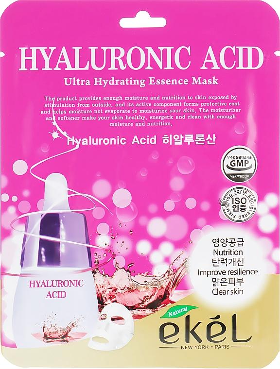 Tuchmaske für das Gesicht mit Hyaluronsäure - Ekel Hyaluronic Acid Ultra Hydrating Essence Mask