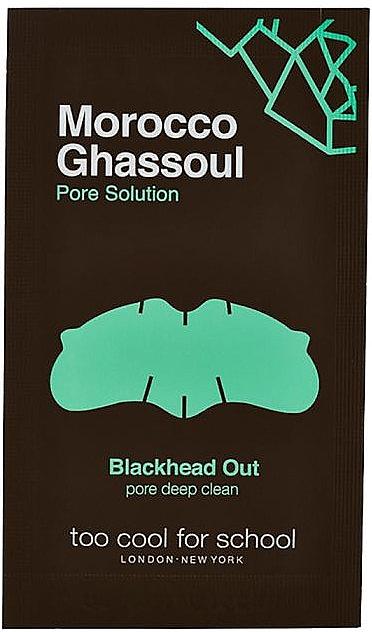 Porenreinigende Nasenstreifen mit marokkanischer Rhassoul-Tonerde - Too Cool For School Morocco Ghassoul Blackhead Out