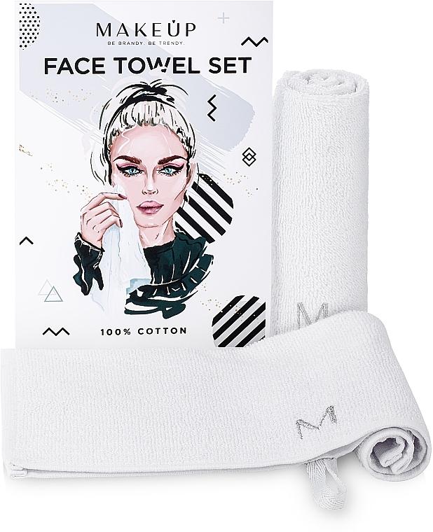 Reiseset Gesichtstücher MakeTravel weiß - Makeup Face Towel Set