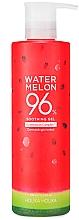 Düfte, Parfümerie und Kosmetik Beruhigendes und feuchtigkeitsspendendes Körper- und Gesichtsgel mit Wassermelonenextrakt - Holika Holika Watermelon 96% Soothing Gel