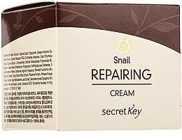 Düfte, Parfümerie und Kosmetik Regenerierende Gesichtscreme mit Schneckenextrakt und epidermalem Wachstumsfaktor - Secret Key Snail + EGF Repairing Cream