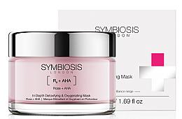 Düfte, Parfümerie und Kosmetik Entgiftende Sauerstoff-Gesichtsmaske mit Rose und AHA-Säure - Symbiosis London In Depth Detoxifying & Oxygenating Mask