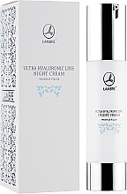 Düfte, Parfümerie und Kosmetik Regenerierende Nachtcreme gegen Falten - Lambre Ultra Hyaluronic