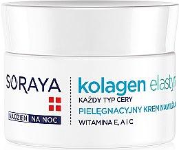 Düfte, Parfümerie und Kosmetik Feuchtigkeitsspenende Pflegecreme mit Vitaminen - Soraya Kolagen i Elastyna Moisturizing Cream