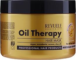 Düfte, Parfümerie und Kosmetik Pflegende, regenerierende und stärkende Haarmaske mit Sheabutter, Argan-, Macadamia- und Kokosnussöl - Revuele Professional Oil Therapy Hair Mask