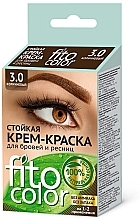 Düfte, Parfümerie und Kosmetik Permanente Cremefarbe für Augenbrauen und Wimpern - Fito Kosmetik FitoColor