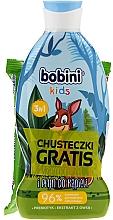 Düfte, Parfümerie und Kosmetik Körperpflegeset - Bobini Kids Set (Schaumgel 330ml + Feuchttücher 15St.)