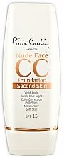 Düfte, Parfümerie und Kosmetik Krem CC do twarzy - Pierre Cardin Nude Face CC Foundation Second Skin SPF 15