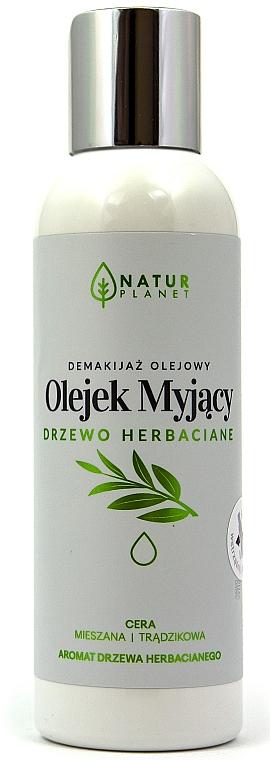 Gesichtsreinigungsöl zum Abschminken mit Teebaumduft für gemischte und zu Akne neigende Haut - Natur Planet Washing Oil Tea Tree