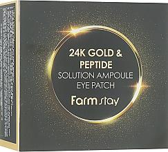 Düfte, Parfümerie und Kosmetik Hydrogel-Augenpatches mit 24K Gold und Peptiden - FarmStay 24K Gold And Peptide Solution Ampoule Eye Patch