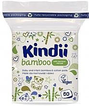 Düfte, Parfümerie und Kosmetik Wattepads für Babys und Kinder 60 St. - Kindii Bamboo Cotton Pads