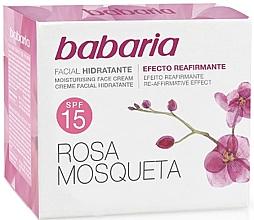 Düfte, Parfümerie und Kosmetik Feuchtigkeitsspendende Gesichtscreme mit Hagebutte SPF 15 - Babaria Face Cream With Rose Hip SPF15