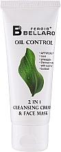 Düfte, Parfümerie und Kosmetik 2in1 Creme-Maske für das Gesicht mit Minze und Ananas - Fergio Bellaro Oil Control 2 in 1 Cleansing Cream & Face Mask