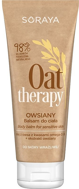 Körperlotion mit Haferextrakt für empfindliche Haut - Soraya Oat Therapy Body Balm