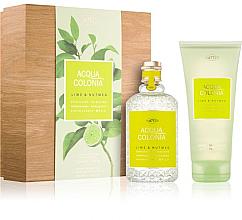 Düfte, Parfümerie und Kosmetik Maurer & Wirtz 4711 Aqua Colognia Lime & Nutmeg - Duftset (Eau de Cologne 170ml + Duschgel 200ml)
