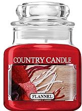 Düfte, Parfümerie und Kosmetik Duftkerze im Glas Flannel - Country Candle Flannel