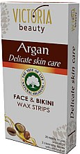 Düfte, Parfümerie und Kosmetik Enthaarungswachsstreifen für Gesicht und Bikinizone mit Arganöl - Victoria Beauty Delicate Skin Care Face & Bikini Waxing Strips Argan
