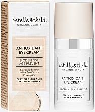 Düfte, Parfümerie und Kosmetik Antioxidative Augencreme mit Blaubeerextrakt, weißem Tee und Hagebuttenöl - Estelle & Thild Biodefense Antioxidant Eye Cream
