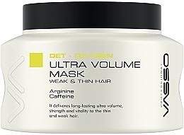 Düfte, Parfümerie und Kosmetik Maske für mehr Volumen für schwaches und dünnes Haar mit Arginin und Koffein - Vasso Professional Ultra Volume Hair Mask