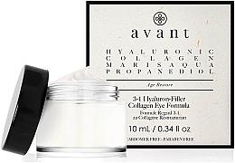 Düfte, Parfümerie und Kosmetik 3in1 Restrukturierende Augenkonturcreme mit Kollagen und Hyaluron - Avant Skincare 3-1 Hyaluron-Filler Collagen Eye Formula