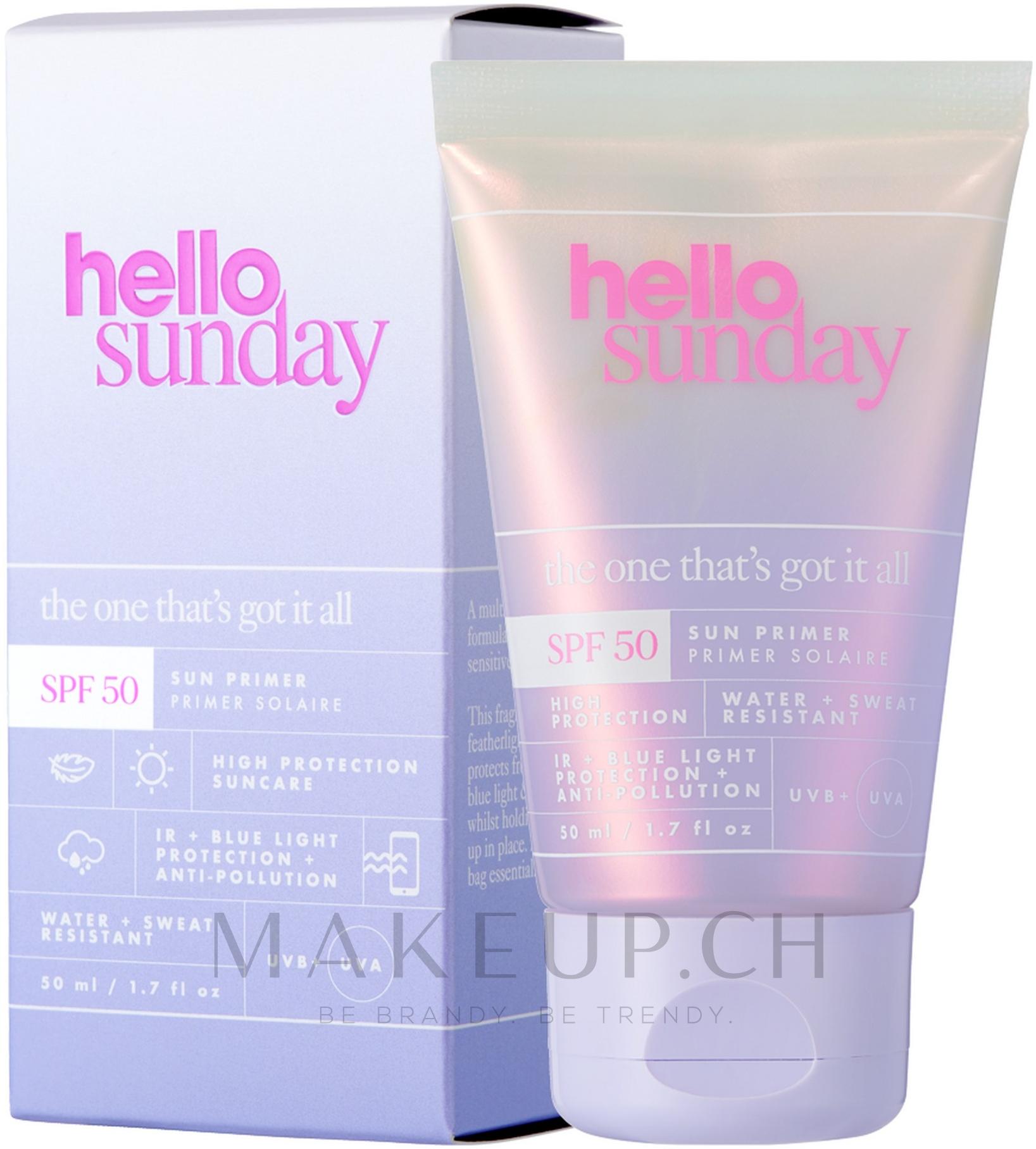 Sonnenschützender Gesichtsprimer SPF 50 - Hello Sunday The One That's Got it All Face Primer SPF50 — Bild 50 ml