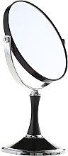 Düfte, Parfümerie und Kosmetik Doppelseitiger Kosmetikspiegel mit Ständer 85642 schwarz - Top Choice