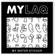 Düfte, Parfümerie und Kosmetik Nagelsticker Kunst - MylaQ My Line Art sticker