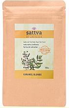Düfte, Parfümerie und Kosmetik Henna-Haarfarbe Karamellblond - Sattva Ayurveda Natural Herbal Hair Dye