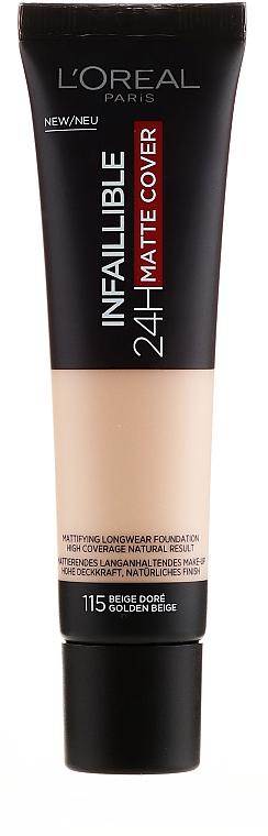 Langanhaltende flüssige Foundation mit natürlichem Finish - L'Oreal Paris Infaillible 24H Matte Cover