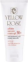 Düfte, Parfümerie und Kosmetik Anti-Aging Sonnenschutzcreme für das Gesicht mit Hyaluronsäure und pflanzlichen Stammzellen SPF 50+ - Yellow Rose Cellular Sun Care Cream SPF-50