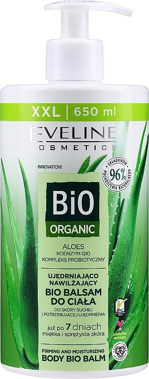 Straffender und feuchtigkeitsspendender Bio Körperbalsam mit Aloe Vera für trockene Haut - Eveline Cosmetics Bio Organic Firming & Moisturizing Body Bio Balm Aloe Vera