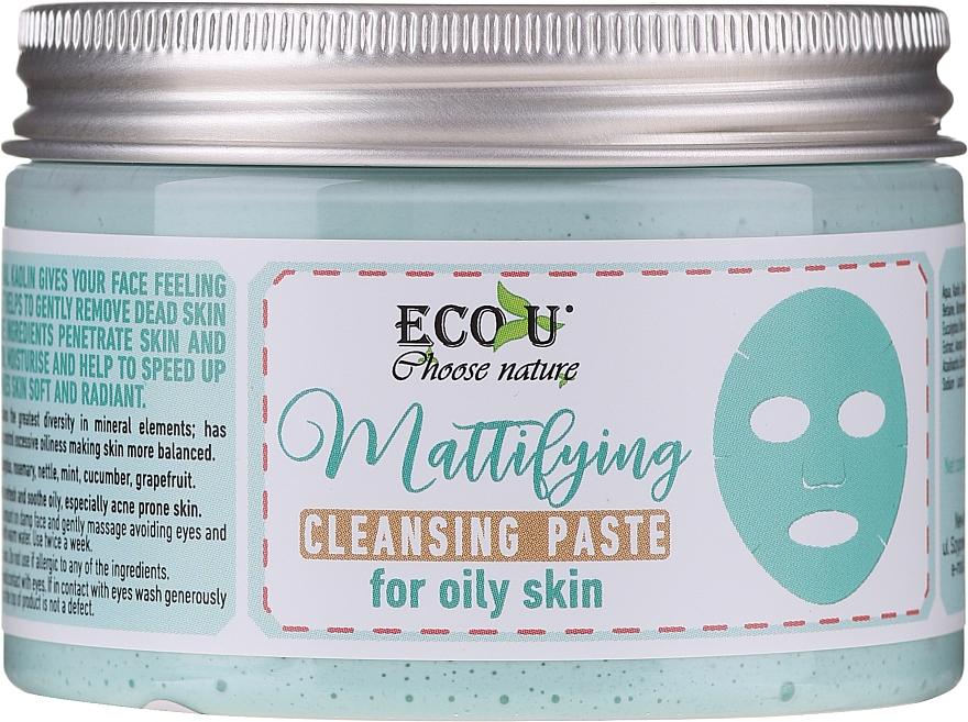 Mattierende Gesichtsreinigungspaste für fettige Haut - ECO U Mattifying Cleansing Paste For Oily Skin — Bild N2