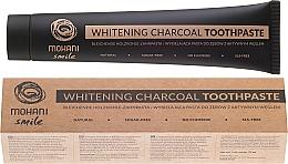 Düfte, Parfümerie und Kosmetik Bleichende Zahnpasta mit Aktivkohle aus Kokosnussschalen - Mohani Smile Whitening Charcoal Toothpaste