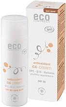 Düfte, Parfümerie und Kosmetik Antioxidative CC Gesichtscreme mit Hyaluronsäure und Q10 SPF 30 - Eco Cosmetics Tinted CC Cream SPF30