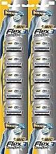 Düfte, Parfümerie und Kosmetik Einwegrasierer 10 St. - Bic Flex 3 Nano-Tech Vitamin E & Aloe