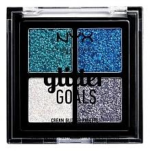 Düfte, Parfümerie und Kosmetik Cremiges Glitter Quartett - NYX Professional Makeup Glitter Goals Cream Quad Palette