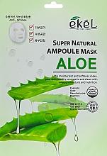 Düfte, Parfümerie und Kosmetik Tuchmaske für das Gesicht mit Aloeextrakt - Ekel Super Natural Ampoule Mask Aloe