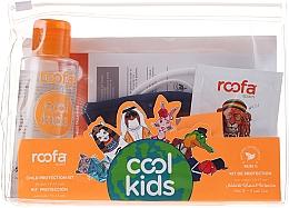 Düfte, Parfümerie und Kosmetik Körperpflegeset - Roofa Cool Kids (Händedesinfektionsmittel mit Aloe 100ml + Shampoo-Gel mit Aloe Vera 3g + Schutzmaske blau 1St.)