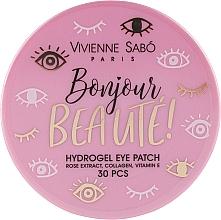Düfte, Parfümerie und Kosmetik Hydrogel-Augenpatches mit Rosenextrakt, Kollagen und Vitamin E - Vivienne Sabo Bonjour, Beaute! Hydrogel