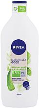 Düfte, Parfümerie und Kosmetik Feuchtigkeitsspendende Körperlotion mit Aloe Vera für normale bis trockene Haut - Nivea Naturally Good Body Lotion
