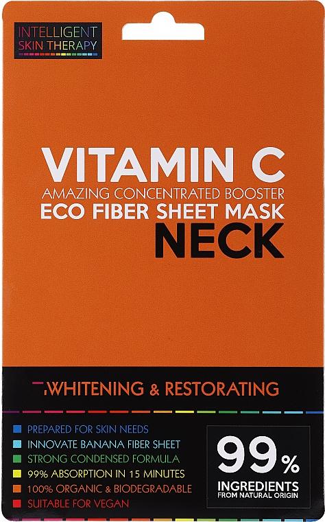 Aufhellende und regenerierende Tuchmaske für den Hals mit Vitamin C - Beauty Face IST Whitening & Restorating Neck Mask Vitamin C