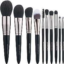 Düfte, Parfümerie und Kosmetik Make-up Pinselset 10-tlg. - Eigshow Beauty Light Gun Black Brush Kit