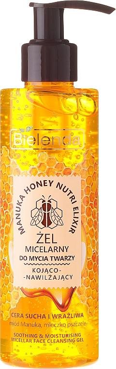 Beruhigendes Mizellen-Gesichtswaschgel mit Manuka-Honig und Gelée Royale - Bielenda Manuka Honey Gel Micelar